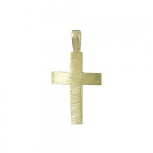 Men's cross Yellow gold K14 Code 008062