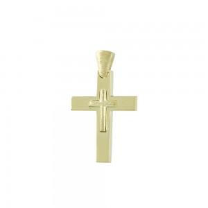 Men's cross Yellow gold K14 Code 008063