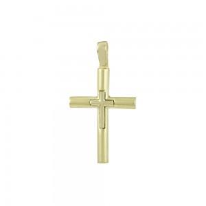 Men's cross Yellow gold K14 Code 008064