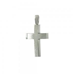 Men's cross White gold K14 Code 008065