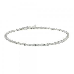 Bracelet Riviera White gold K14 with semiprecious stones Code 008077