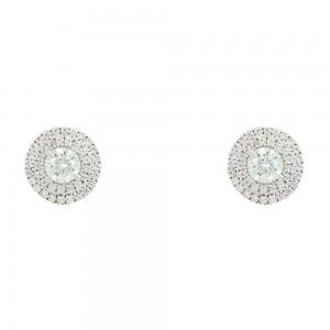 Earrings Rosette White gold K14 with semiprecious stones Code 008078