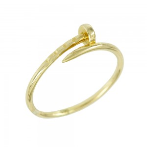 Ring Infinity Yellow gold K14 with Code 008127
