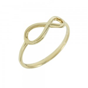 Ring Infinity Yellow gold K14 with Code 008128