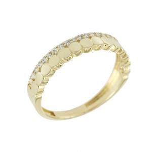 Ring Yellow gold K14 with semiprecious stones Code 00008131