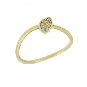 Ring Yellow gold K14 with semiprecious stones Code 008136