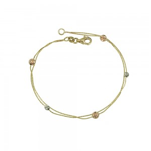 Bracelet  Yellow, pink and white gold K14 Code 008171
