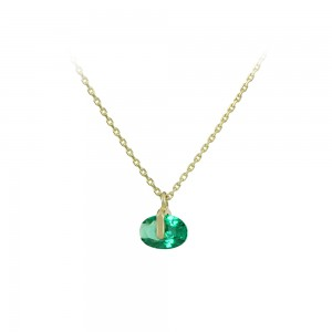 Necklace Yellow gold K14 with semiprecious stone Code 008176