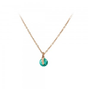 Necklace Pink gold K14 with semiprecious stone Code 008177