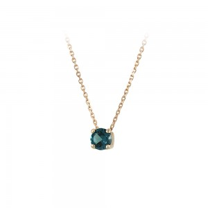 Necklace Pink gold K14 with semiprecious stone Code 008179