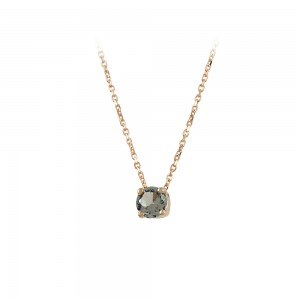 Necklace Pink gold K14 with semiprecious stone Code 008180
