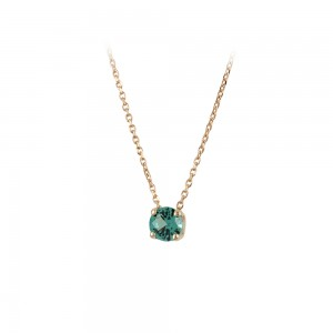 Necklace Pink gold K14 with semiprecious stone Code 008181