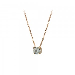 Necklace Pink gold K14 with semiprecious stone Code 008182