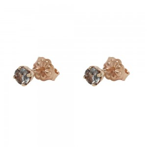 Earrings Pink gold K14 with semiprecious stones Code 008208