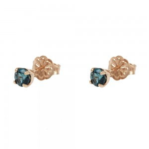 Earrings Pink gold K14 with semiprecious stones Code 008209