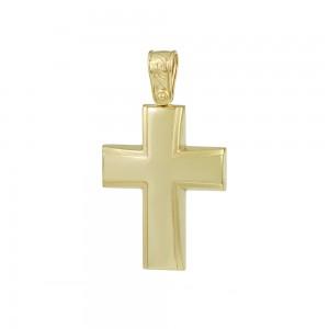 Men's cross Aneli Collection Yellow gold K14 Code 008366