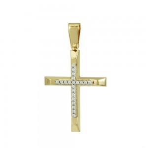 Women's cross Yellow and white gold K14 Code 008368