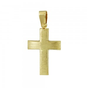Men's cross med-size Aneli collection Yellow gold K14 Code 008370