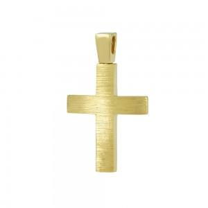 Men's cross Aneli Collection Yellow gold K14 Code 008373