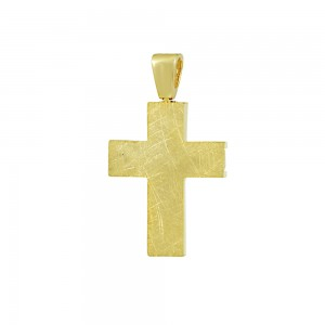 Men's cross  Aneli Collection Yellow and white gold K14 Code 008376