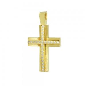 Women's cross Yellow gold K14 Code 008378
