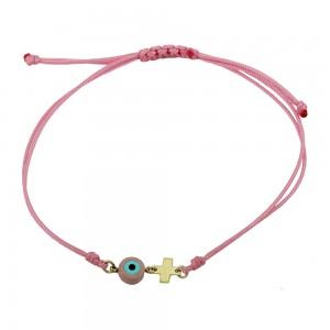 Bracelet for baby girl Girl motif  Yellow gold K14 Code 008441