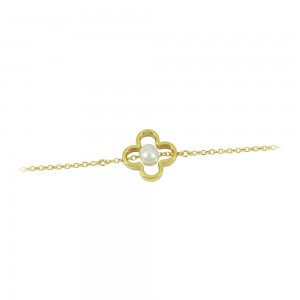 Bracelet Yellow gold K14 with pearl Code 008447