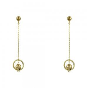 Earrings Yellow gold K14 Code 008469