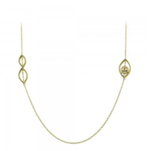 Necklace Yellow gold K14 Code 008491
