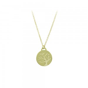 Necklace Tree of Life Yellow gold K14 Code 008493