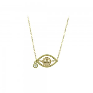 Necklace Yellow gold K14 with Diamond Code 008494