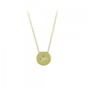 Necklace Yellow gold K14 with diamond Code 008499