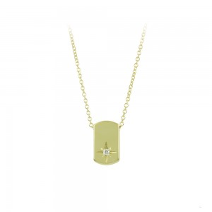 Necklace Yellow gold K14 with diamond Code 008502