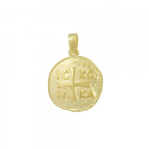 Christian pendant Yellow gold K14 Code 008585