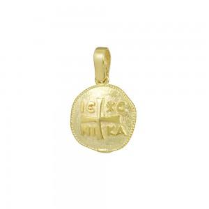 Christian pendant Yellow gold K14 Code 008586