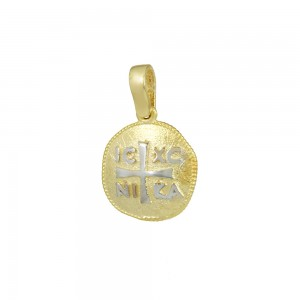 Christian pendant Yellow and white gold K14 Code 008590