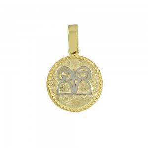 Christian pendant Yellow and white gold K14 Code 008595