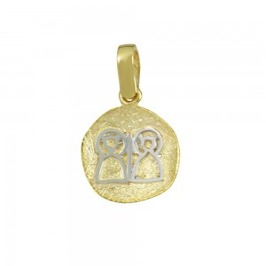 Christian pendant Yellow and white gold K14 Code 008598