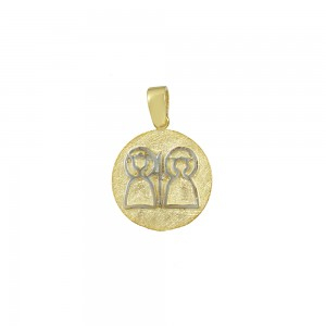 Christian pendant Yellow and white gold K14 Code 008599