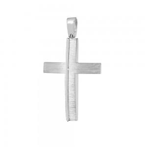 Men's cross Aneli collection White gold K14  Code 008629
