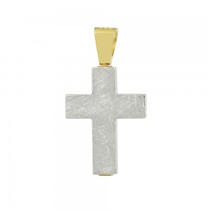 Men's cross Aneli collection Yellow and white gold K14 Code 008641