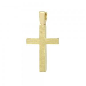 Men's cross Aneli collection Yellow and white gold K14 Code 008642