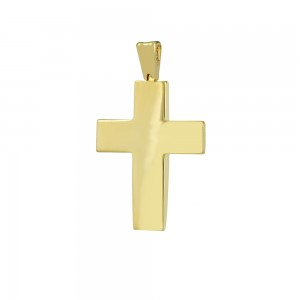 Men's cross Aneli collection Yellow and white gold K14 Code 008645