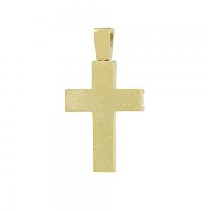 Men's cross Aneli collection Yellow gold K14 Code 008647