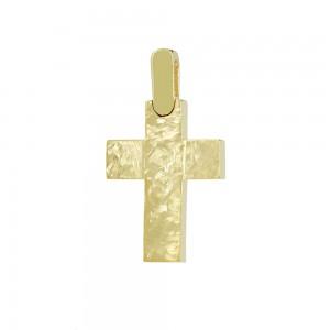 Men's cross Aneli collection Yellow gold K14 Code 008648