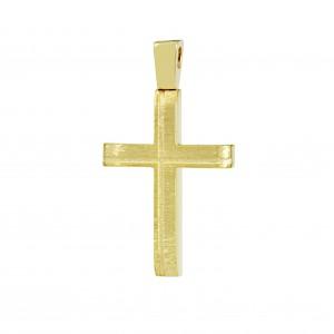 Men's cross Aneli collection Yellow gold  K14 Code 008650