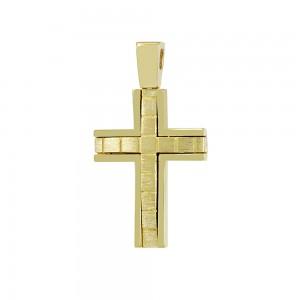 Men's cross Aneli collection Yellow gold K14 Code 008651