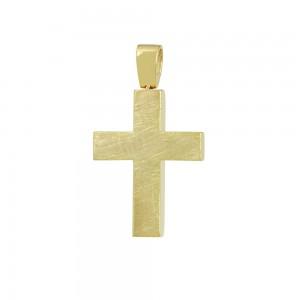 Men's cross Aneli collection Yellow gold K14 Code 008652