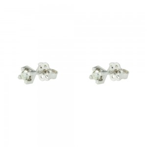 Diamond earrings White gold K18  Brilliant cut Code 003600