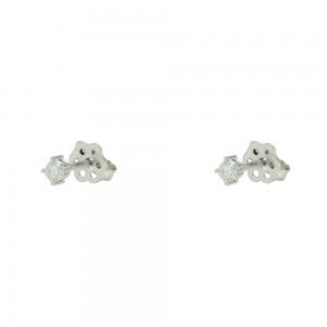Diamond earrings White gold K18  Brilliant cut Code 003763